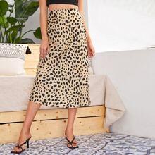 Dalmatian Print Zip Detail Skirt