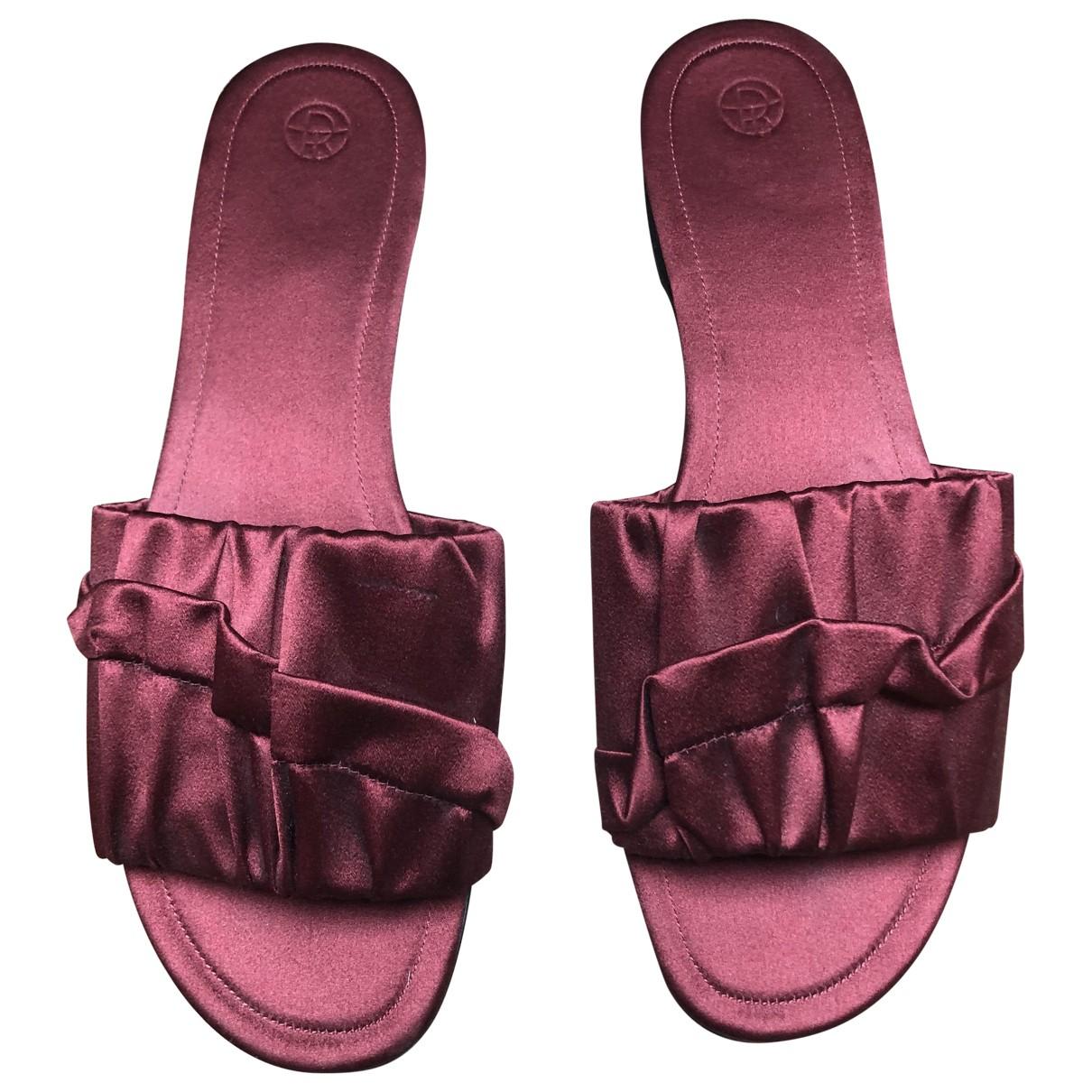 The Row \N Burgundy Cloth Sandals for Women 40 EU