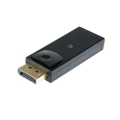Adaptateur Displayport (DP) mâle vers HDMI femelle, connecteur plaqué or - noir