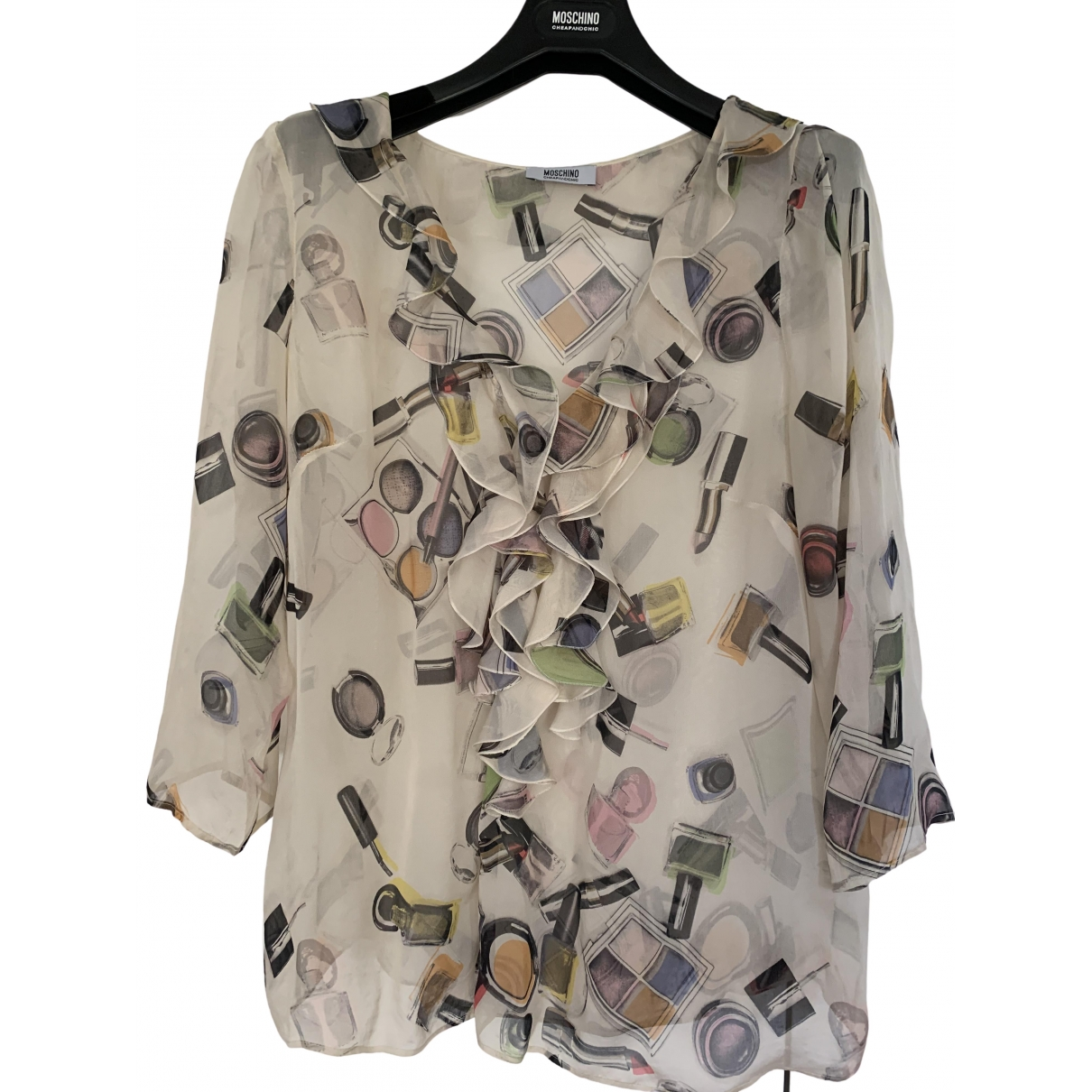 Moschino Cheap And Chic \N Beige Silk  top for Women 46 IT