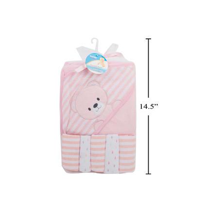 Tootsie Baby, Pink Towel/Washcloth Set, net bag, h/t 1-tow/5-w.c