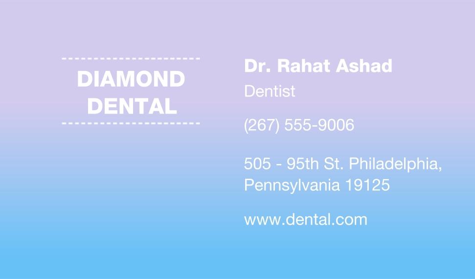Modern Business Cards, Set of 40, Silk, Card & Stationery -Pastel Dental