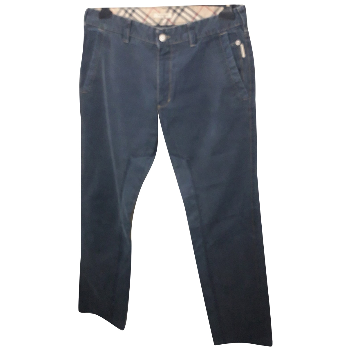 Burberry \N Navy Cotton Trousers for Men 50 IT