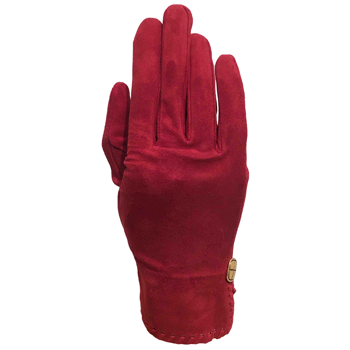 Chanel \N Red Suede Gloves for Women XS International