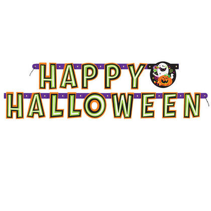 Happy Halloween Large Jointed Banner for Home Party Decor, 5.41ft Length 1Pcs