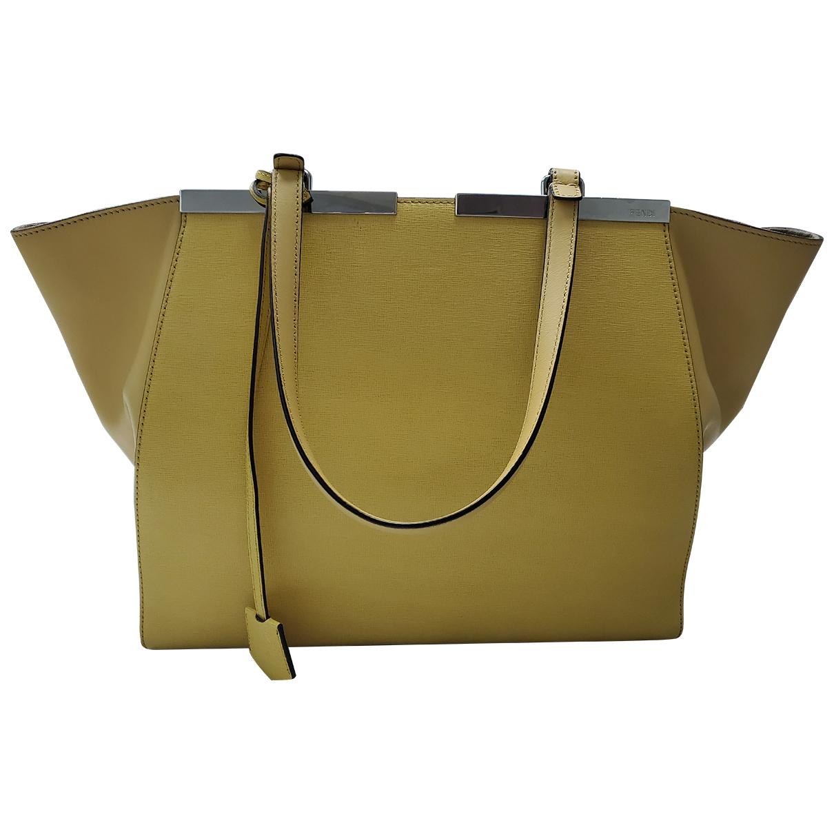 Fendi 3Jours Yellow Leather handbag for Women \N
