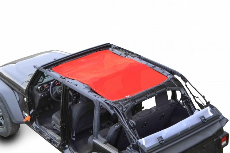 Steinjager J0048114 Tops, Fabric Teddy Wrangler JL 2018 to Present 4 Door Red