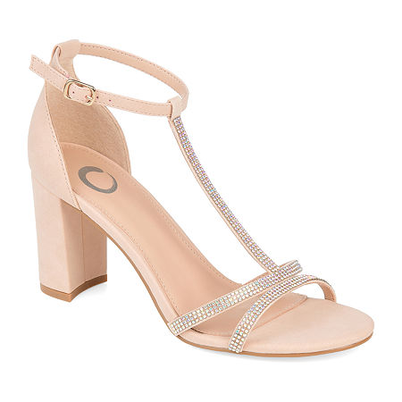 Journee Collection Womens Denali Pumps Block Heel, 7 Medium, Beige