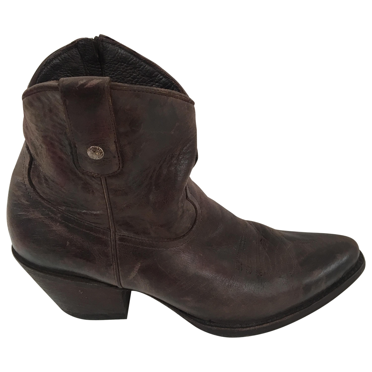 Old Gringo \N Brown Leather Boots for Women 9.5 US