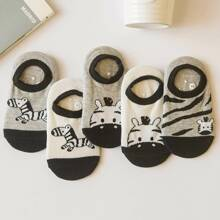 5pairs Toddler Kids Cartoon Graphic Socks