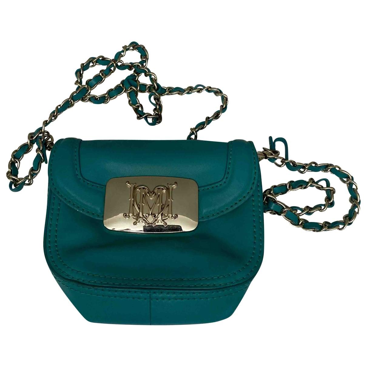 Moschino Love \N Blue Leather handbag for Women \N