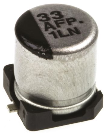 Panasonic 33μF Electrolytic Capacitor 10V dc, Surface Mount - EEEFP1A330AR (5)