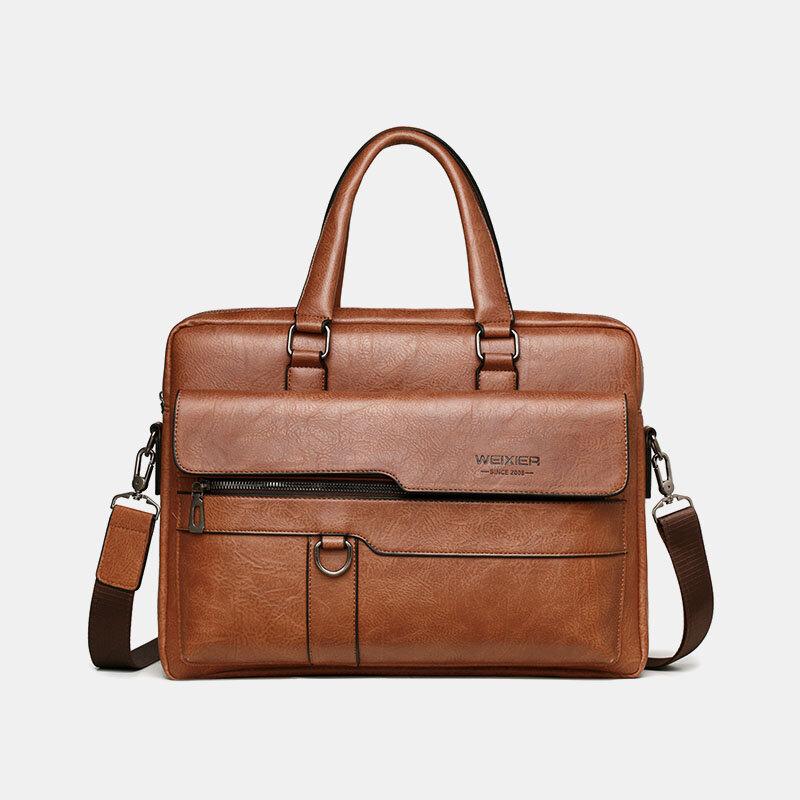 Retro Men's Bag Briefcase Men's Business Handbag Computer Bag Messenger Bag