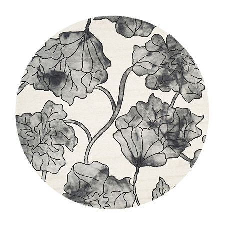 Safavieh Dip Dye Collection Erksine Floral Round Area Rug, One Size , Multiple Colors