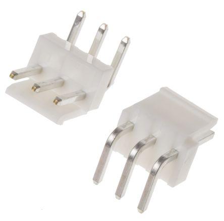 JST , VH, B3PS, 3 Way, 1 Row, Right Angle PCB Header (5)