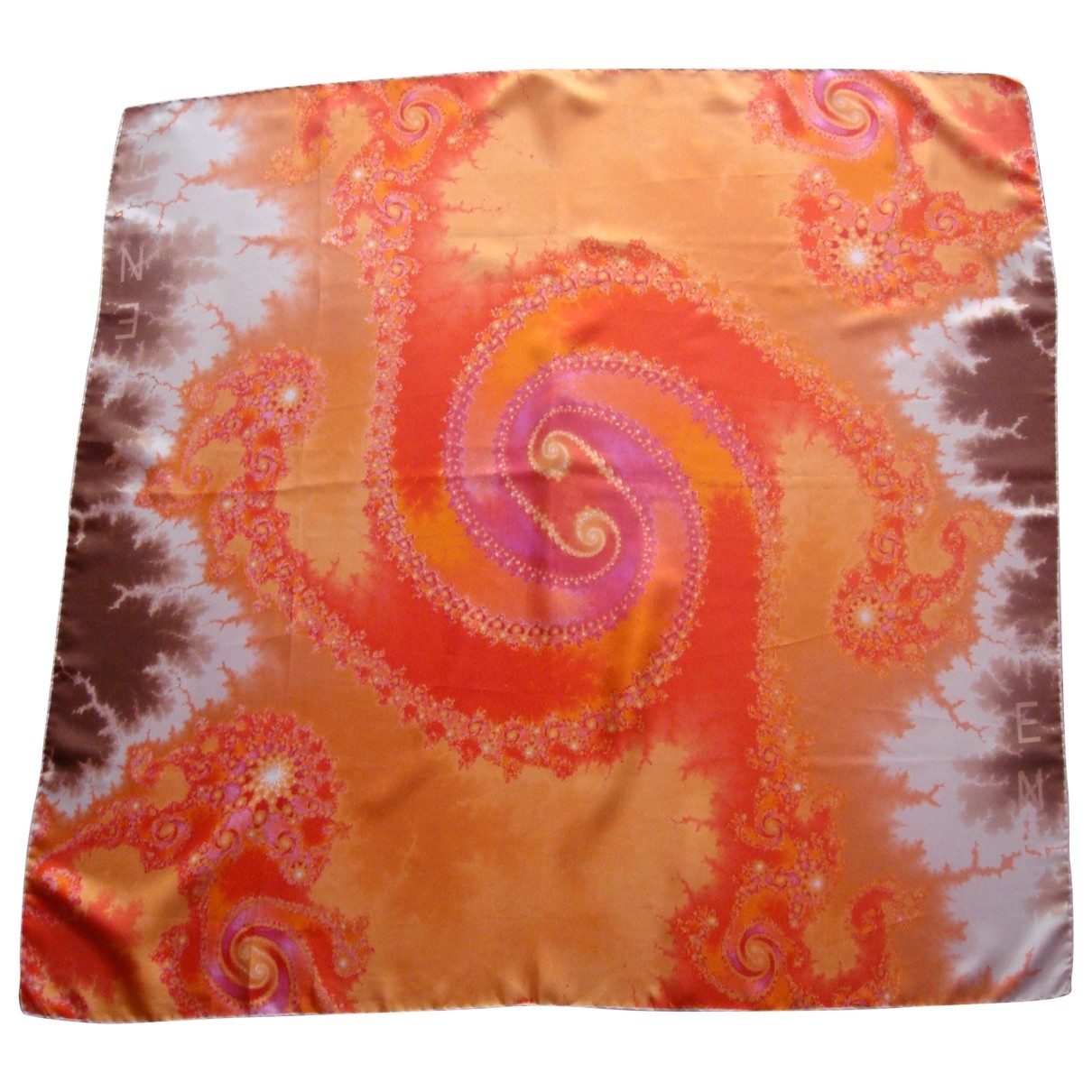 Fendi \N Orange Silk scarf for Women \N