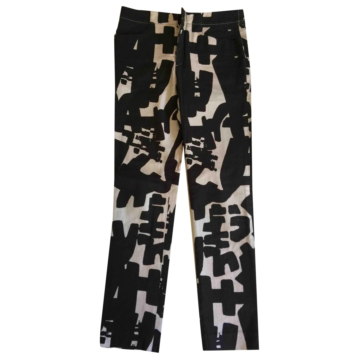 Isabel Marant \N Black Cotton Trousers for Women 34 FR