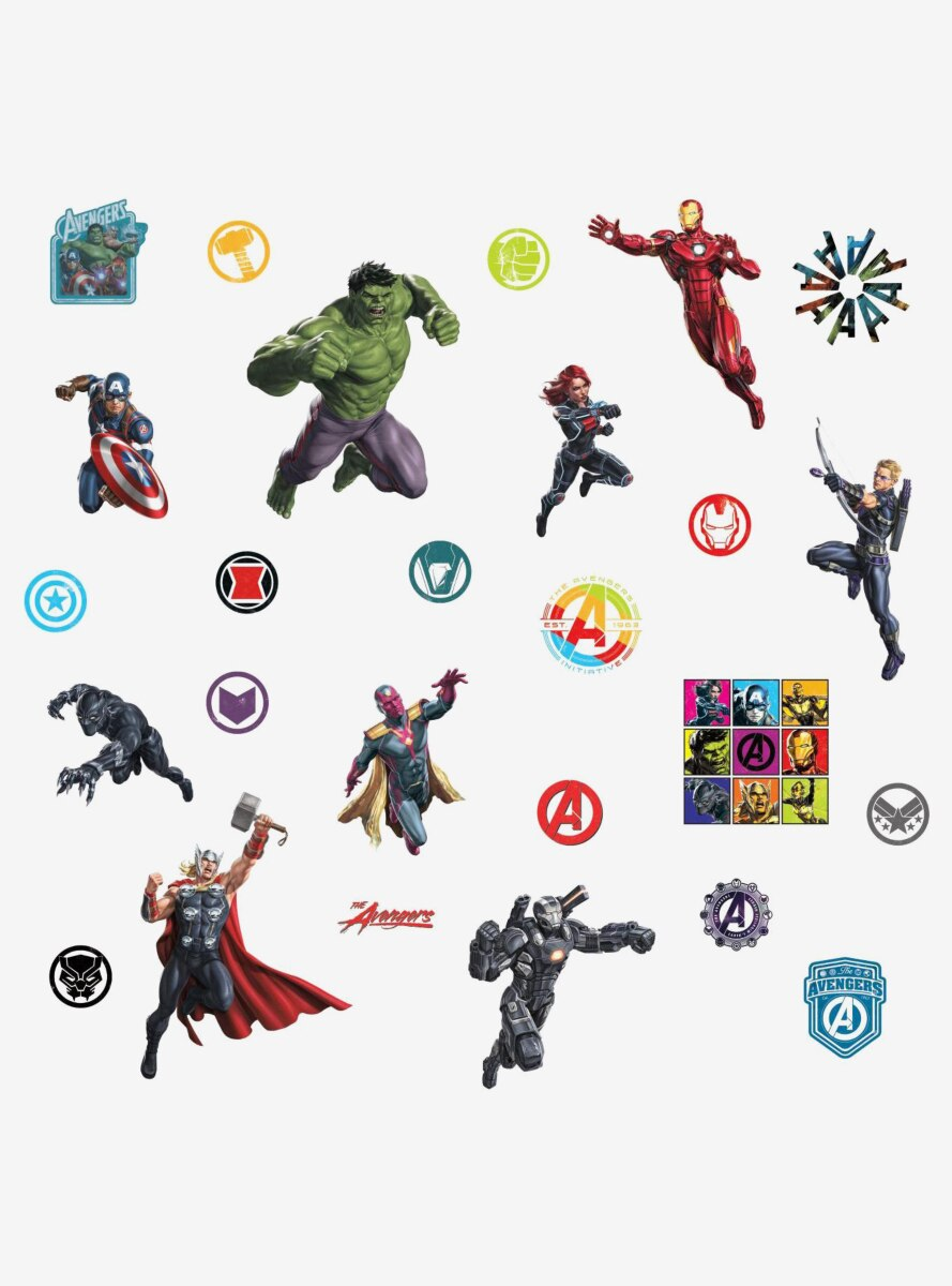 Marvel Avengers Classic Peel And Stick Wall Decals