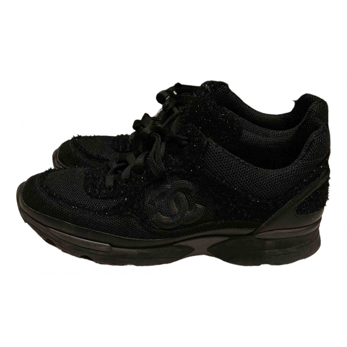 Chanel \N Black Glitter Trainers for Women 40 EU