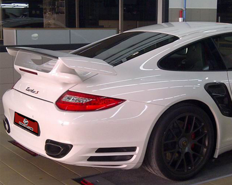NR Auto 99762-CFB 997 FRP GT2 Deck Lid Wing with Carbon Base and Black Gurney Porsche 997 Turbo 07-09