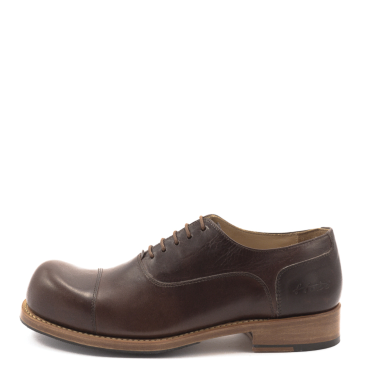HOBO, Charly m Men's Lace-up Shoes, dark brown Größe 41