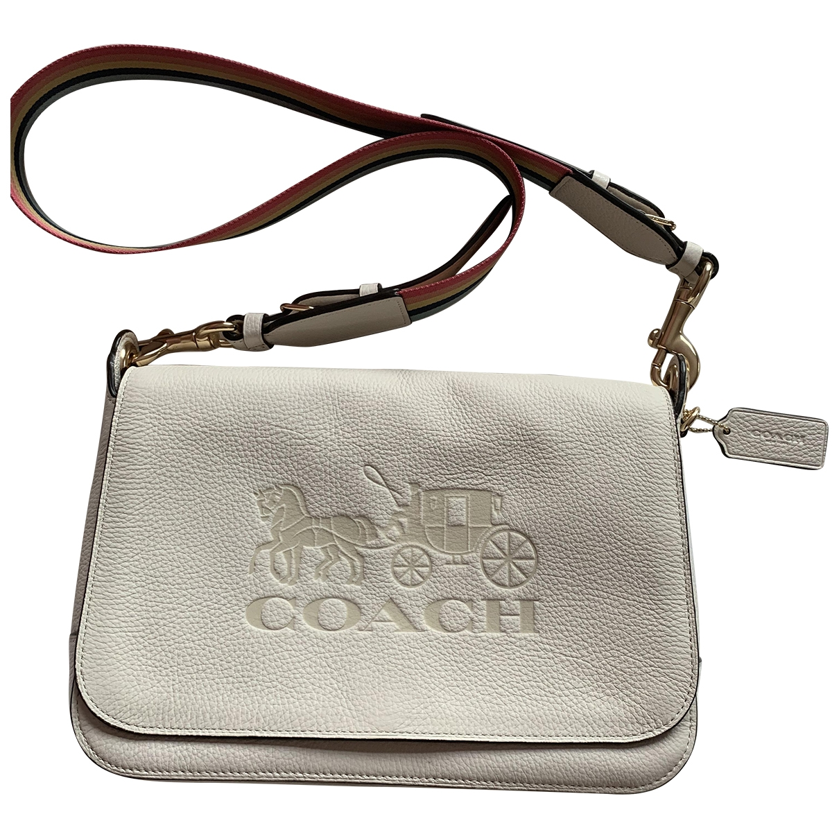 Coach Smooth Crossbody  White Leather handbag for Women \N