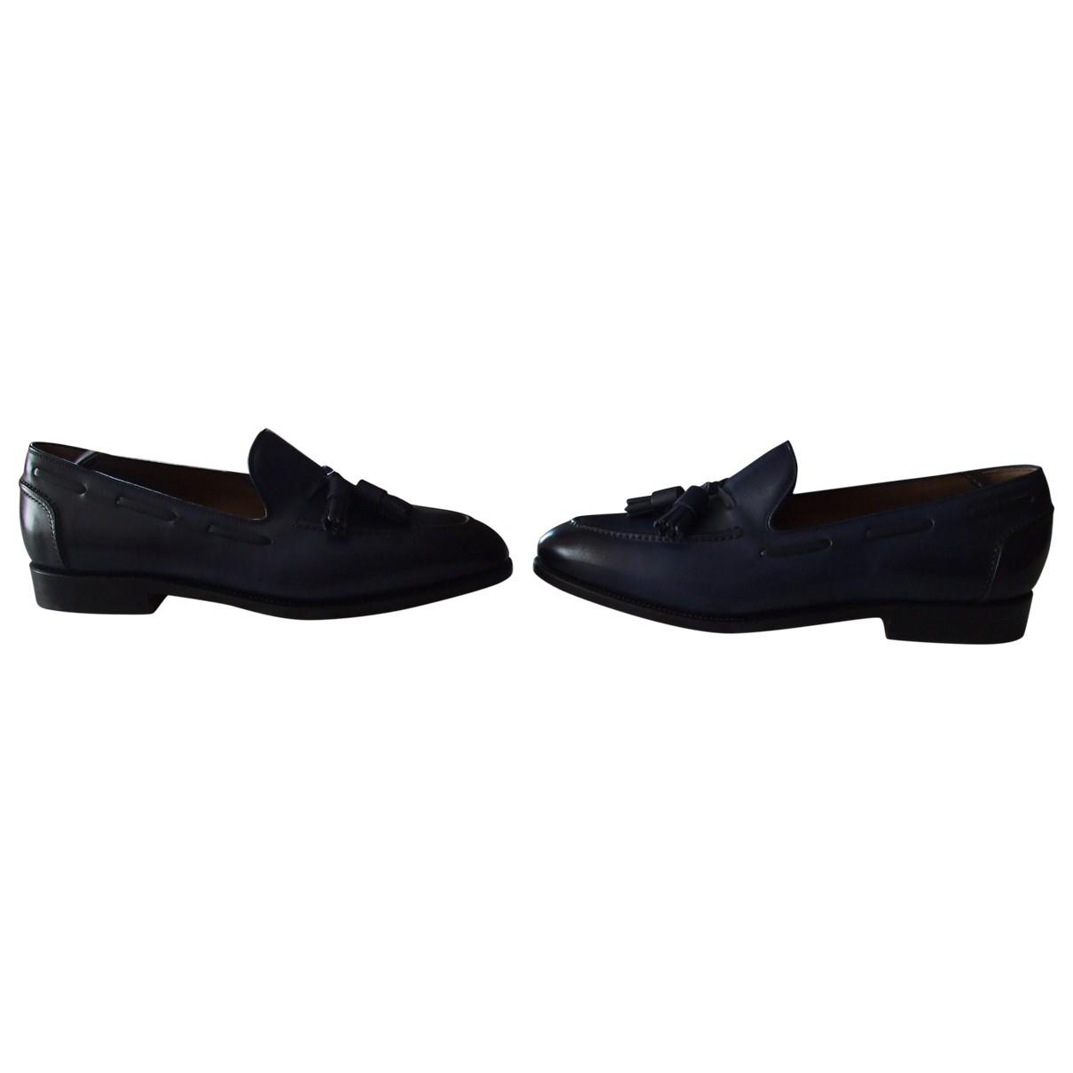 Salvatore Ferragamo \N Blue Leather Flats for Men 8.5 UK