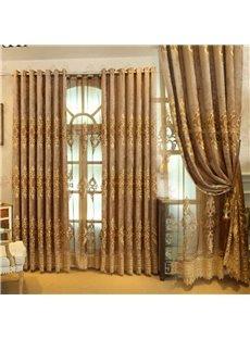 Gorgeous Style Luxury Goldern Pattern Shading Curtain