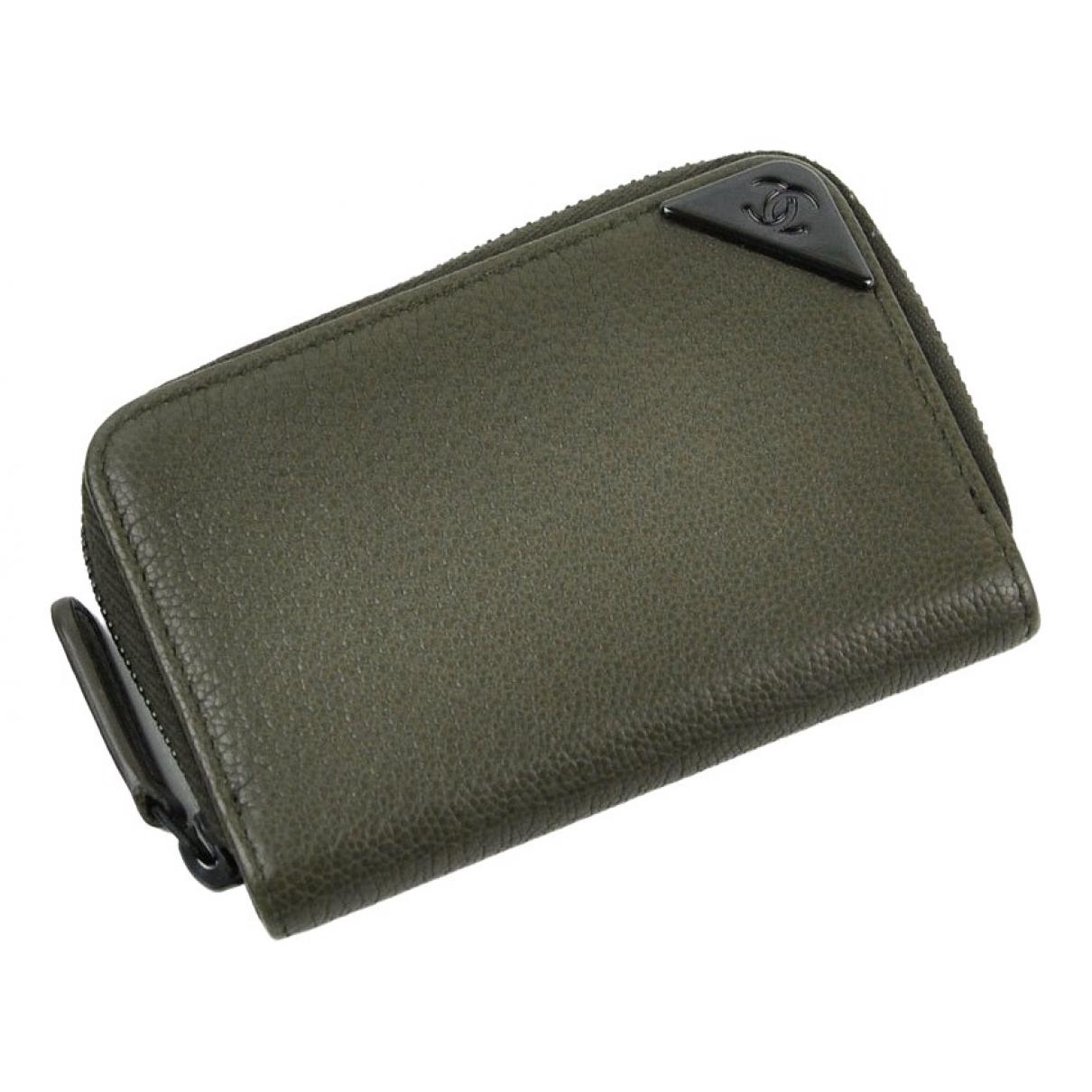 Chanel \N Green Leather wallet for Women \N