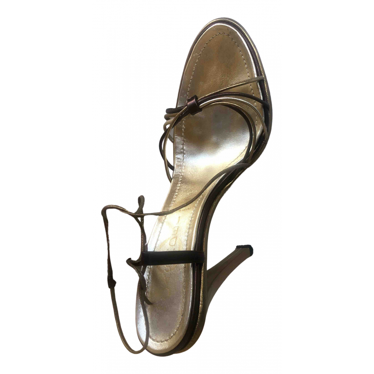 Casadei \N Gold Leather Sandals for Women 36.5 IT