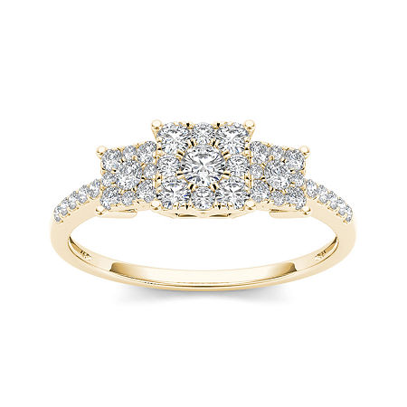 1/2 CT. T.W. Diamond 10K Yellow Gold Engagement Ring, 8 , No Color Family