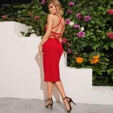 Crisscross Backless Cami Dress