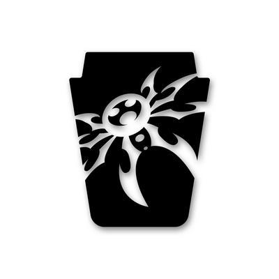 Poison Spyder JK Mountain Spyder Hood Decal in Black (Black) - 51-17-010-B