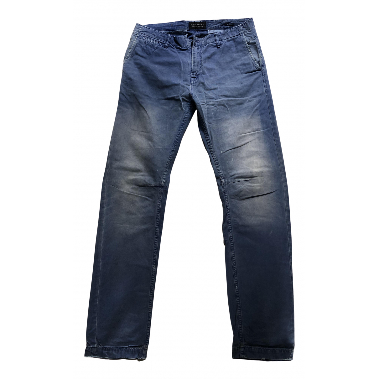Scotch & Soda N Blue Cotton Trousers for Men M International