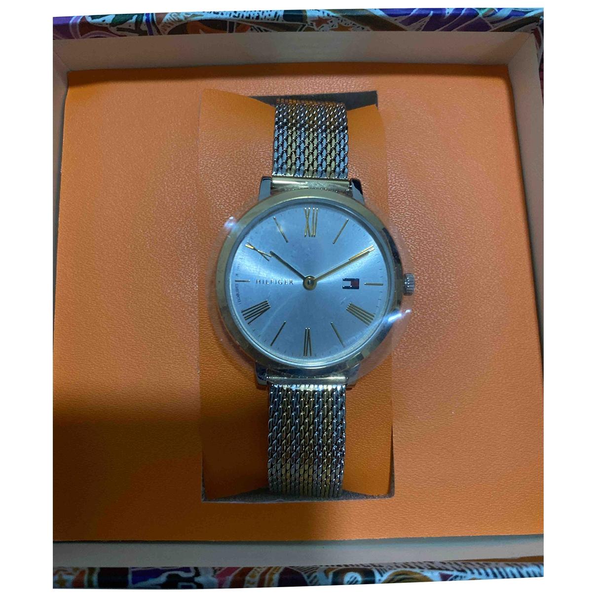 Tommy Hilfiger \N Gold Steel watch for Women \N
