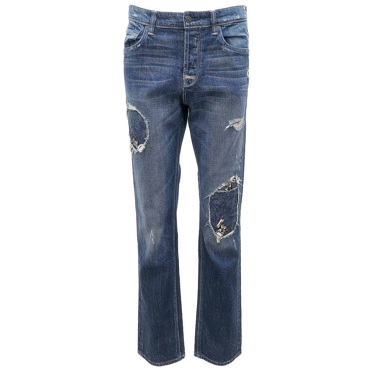 7 For All Mankind \N Blue Cotton Jeans for Women 29 US