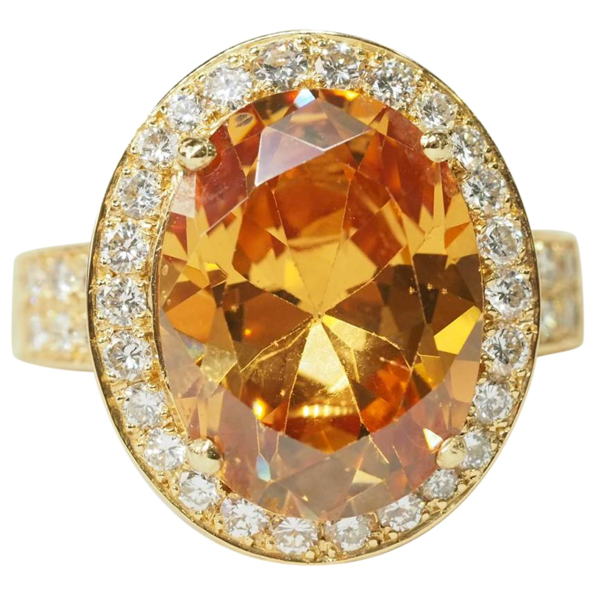 Non Signé / Unsigned \N Yellow Yellow gold ring for Women 53 EU