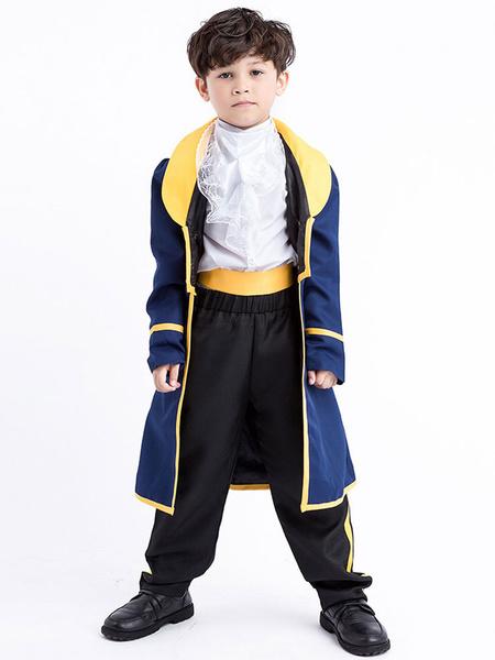 Milanoo Prince Costume Halloween Kids Top And Pants Cummerbund Jacket Cosplay Outfit