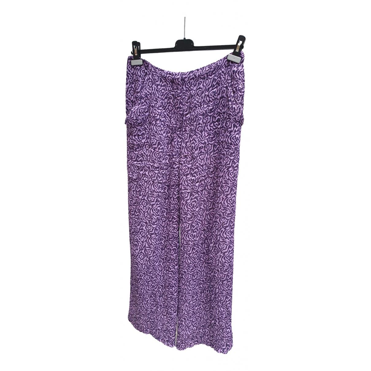 Nanushka \N Purple Trousers for Women 36 FR