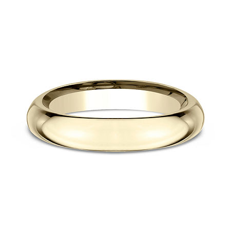 Womens 14K Yellow Gold 4MM High Dome Comfort-Fit Wedding Band, 10 , No Color Family