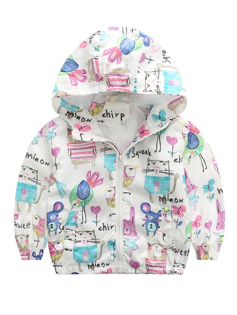 Ericdress Windproof Animal Pattern Zipper Hooded Baby Boys Jacket