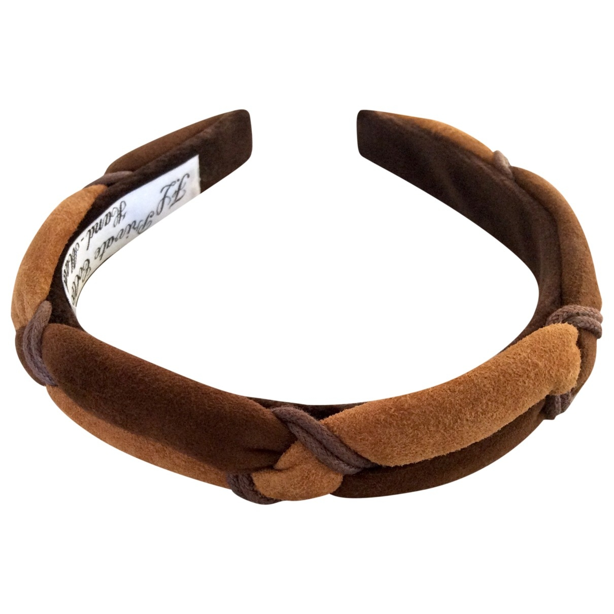 Non Signé / Unsigned \N Brown Leather Hair accessories for Women \N