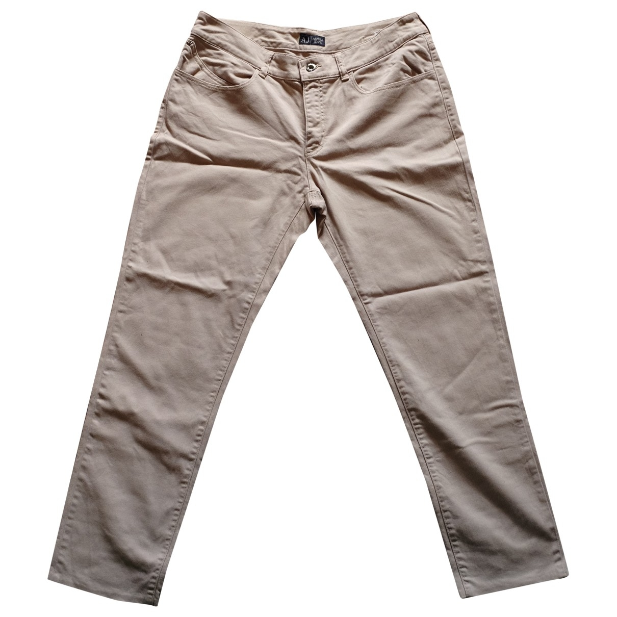Armani Jeans \N Beige Cotton Trousers for Men M International