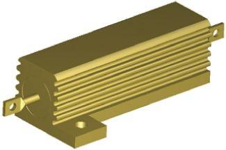 TE Connectivity HSA50 Series Aluminium Housed Solder Lug Wire Wound Panel Mount Resistor, 1.2Ω ±5% 50W