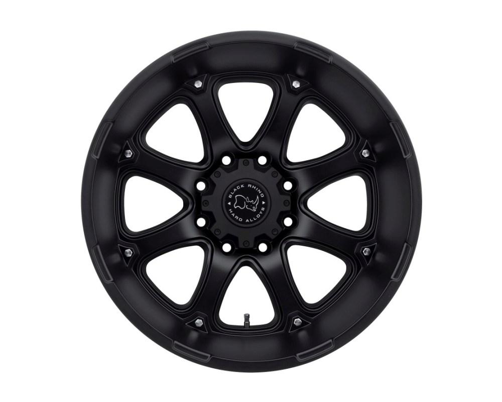 Black Rhino Glamis Matte Black Wheel 22x14 8x165.10 8x6.5 -74mm CB122