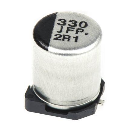 Panasonic 330μF Electrolytic Capacitor 6.3V dc, Surface Mount - EEEFPJ331XAP (5)