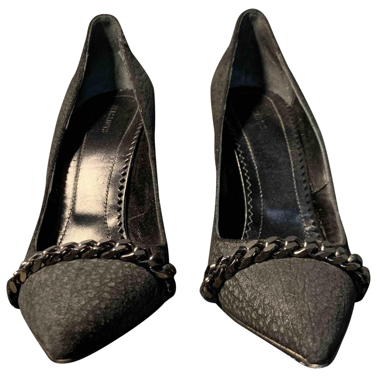 All Saints \N Black Leather Heels for Women 39 EU