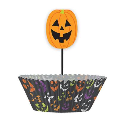 Kit enveloppes de décoration de cupcakes Halloween, 24 pièces