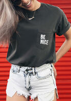 Be Nice Pocket T-Shirt Tee without Necklace - Dark Grey