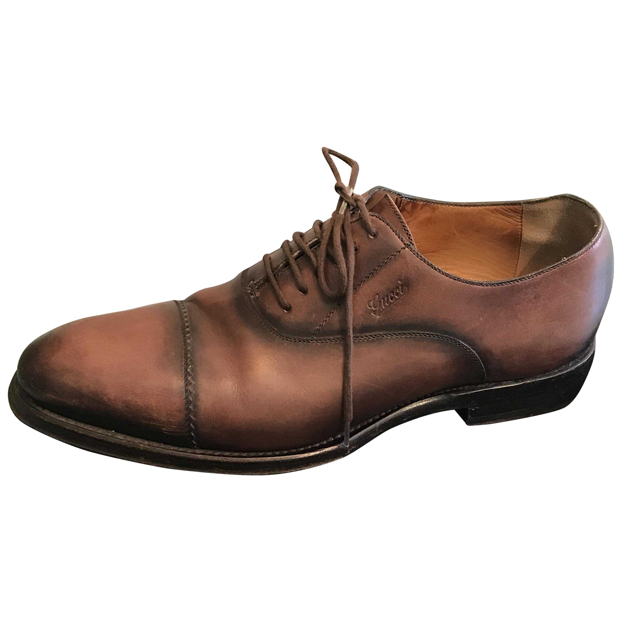 Gucci \N Brown Leather Lace ups for Men 7.5 US